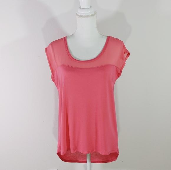 Zara Trafaluc Basics Sleeveless Pink Hi Low Tank